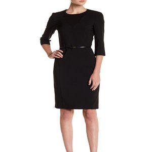 Hugo BOSS, Diabina Black Dress Sz 0, #1247